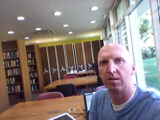 Quiet library at 5:45pm. My first day at school is also the last week of term for LTS students.
